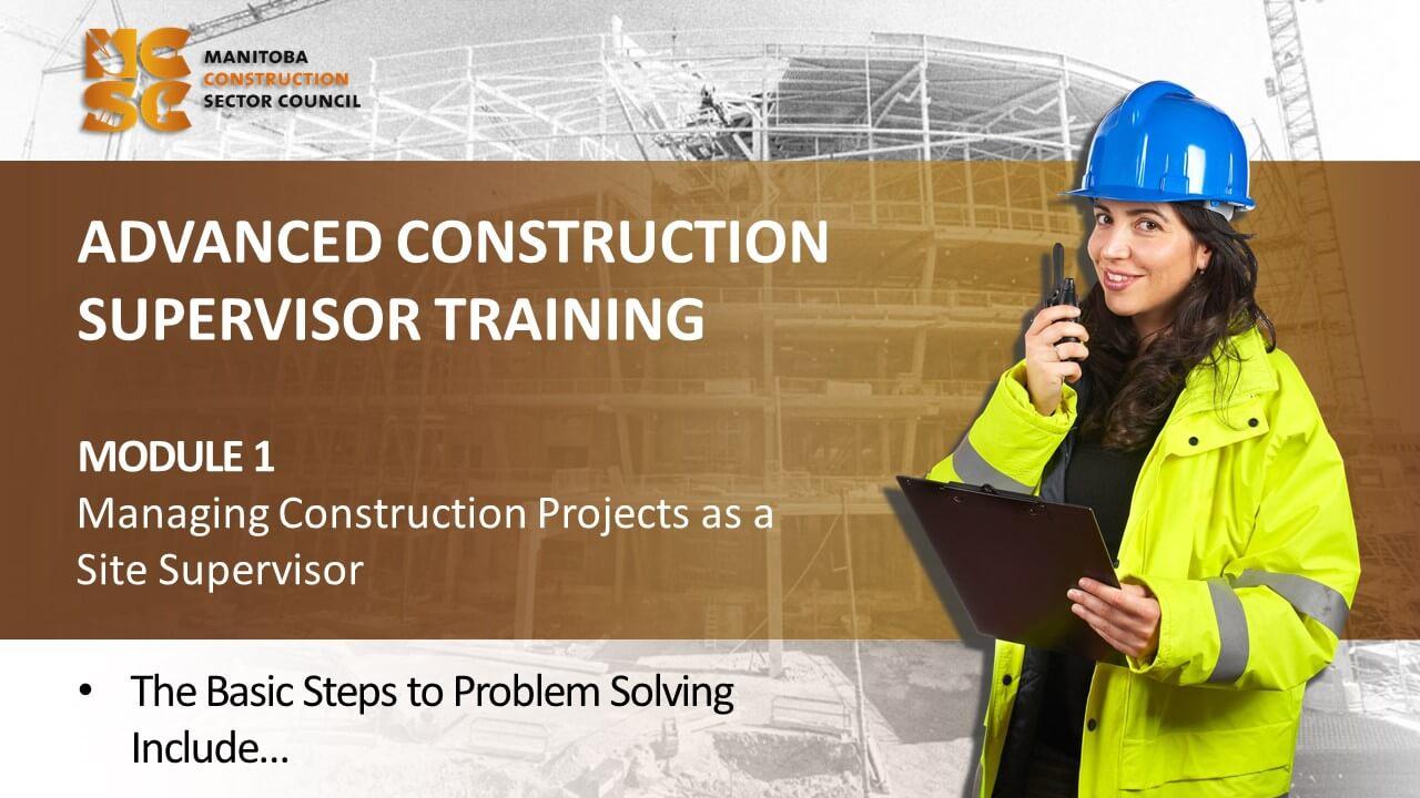 Advanced Construction Supervisor Course