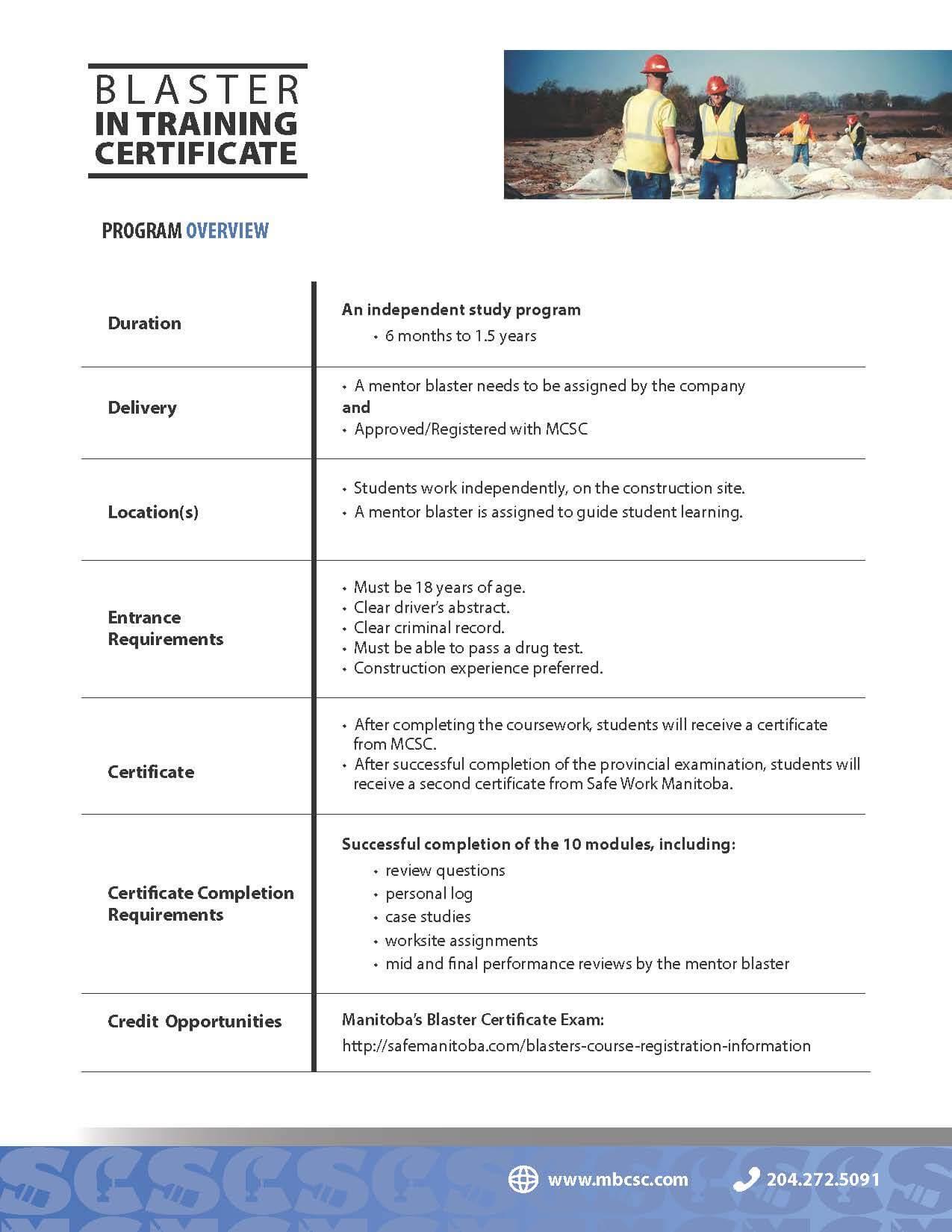 Blaster in Training Certificate